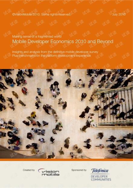 Mobile Developer Economics 2010 Report+FINAL