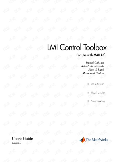LMI Control Toolbox for Use with MATLAB
