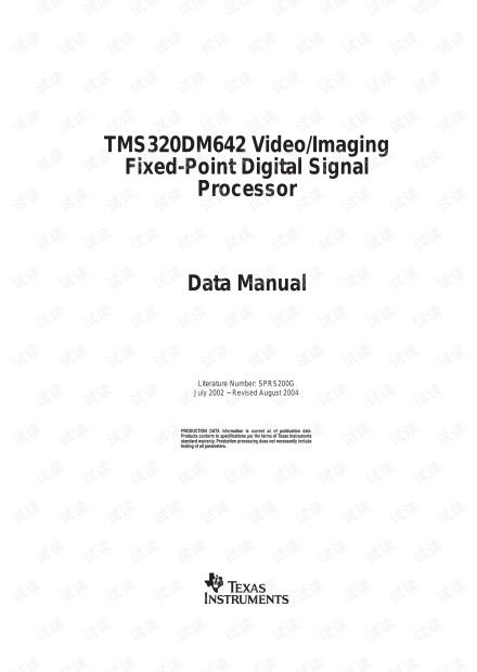 TMS320DM642 Data Sheet (Rev. G).pdf