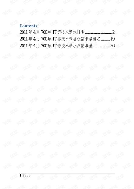 史上最强!2011年700项IT技术需求就业薪水排名报告.pdf