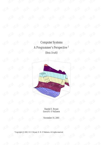 深入理解计算机系统(英文版)