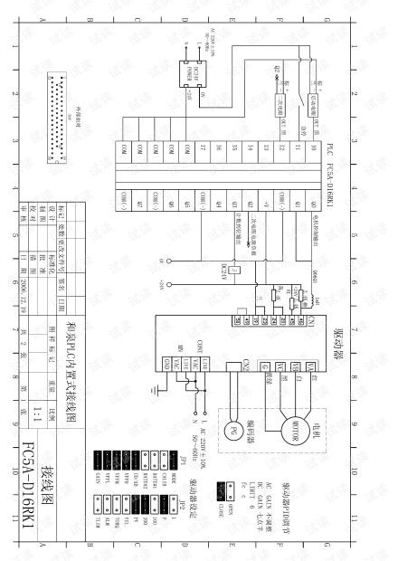 PLC控制伺服电机的接线图