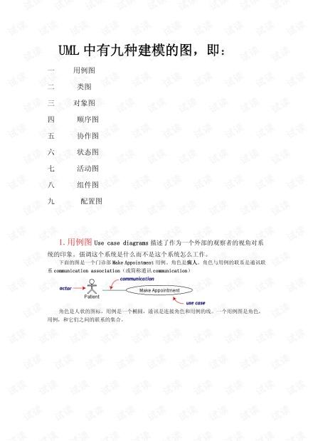 简介uml文档
