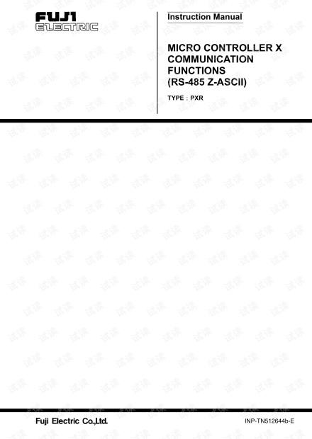 富士温控表PXR4通讯协议