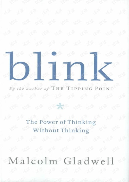 Blink.the.power.of.thinking.without.thinking.-.Malcolm.Gladwell.pdf