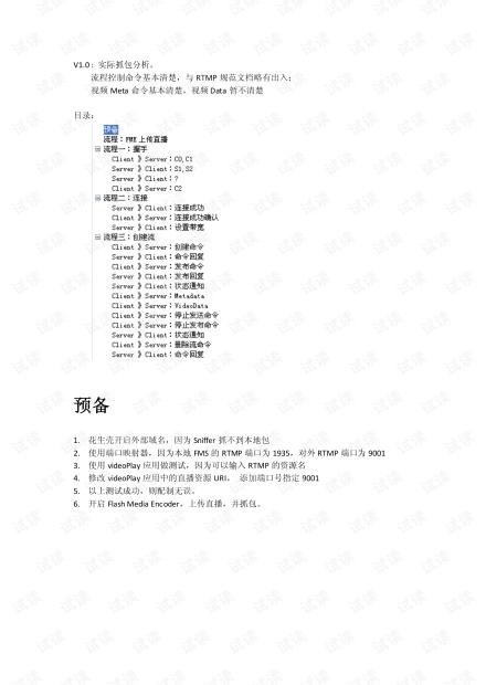 RTMP_视频发布抓包分析