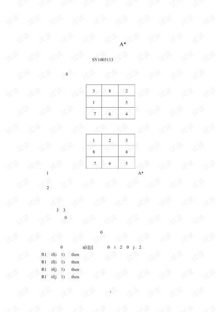 人工智能A算法九宫格