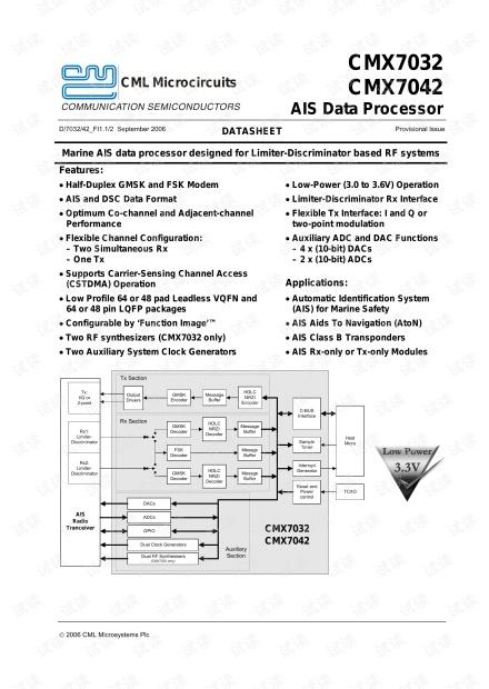 AIS 基带处理芯片资料