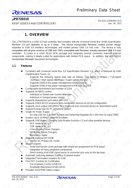 uPD720210 user manual