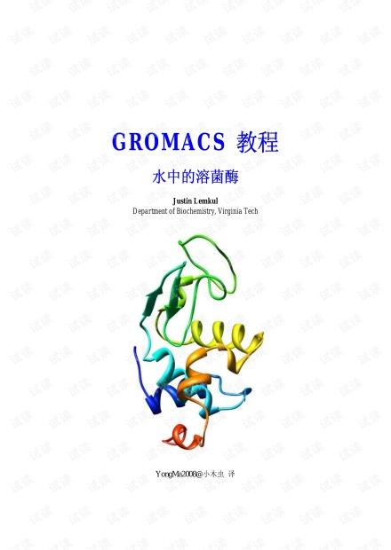 Gromacs教程-水中的溶菌酶
