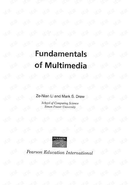 Fundamentals of Multimedia(多媒体技术教程)(英文版)