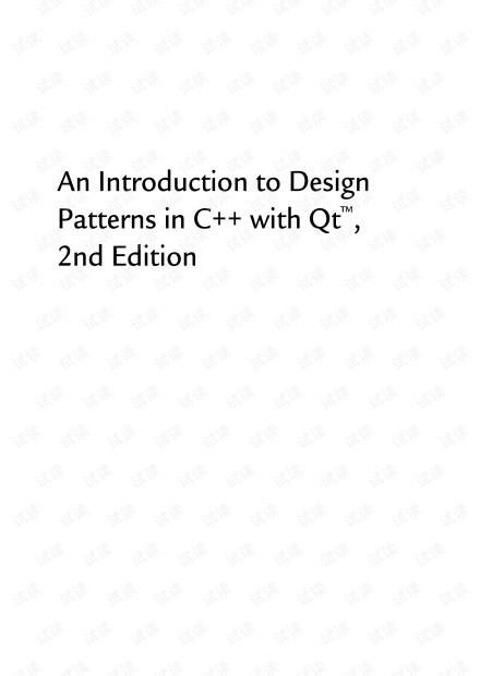C++Qt设计模式第四版 英文版