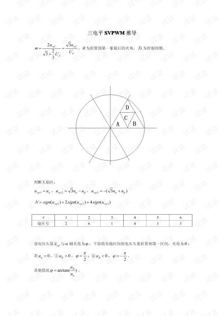 三电平SVPWM算法核心(简单易懂)