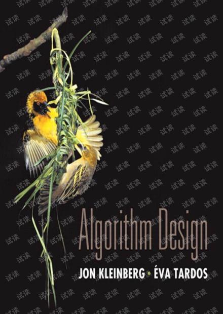 算法设计 Algorithm Design, Jon Kleinberg, Eva Tardos