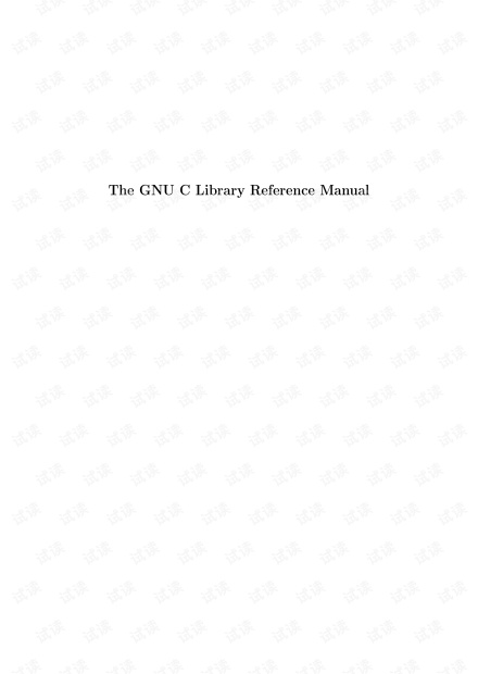 The GNU C Library Reference Manual.pdf