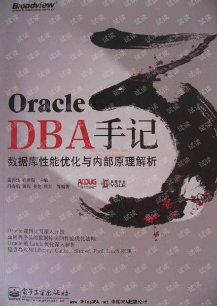 Oracle DBA手记3:数据库性能优化与内部原理解析--详细书签版