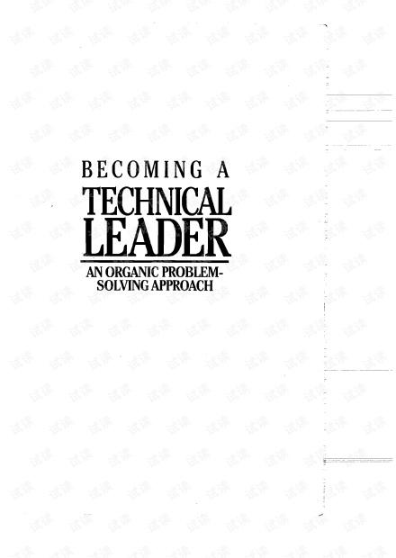 成为技术领导者