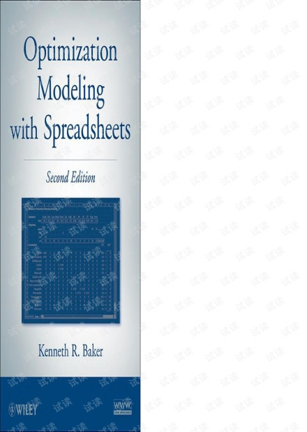 Optimization modeling with spreadsheet