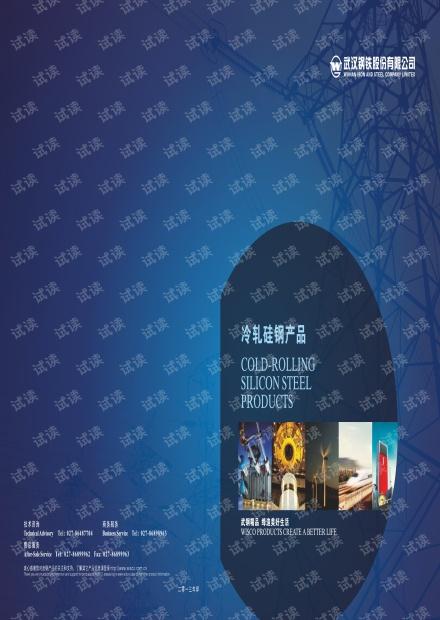 武钢硅钢产品手册
