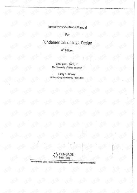 Roth_Kinney_Fundamentals.Of.Logic.Design.6th.Ed.Solution
