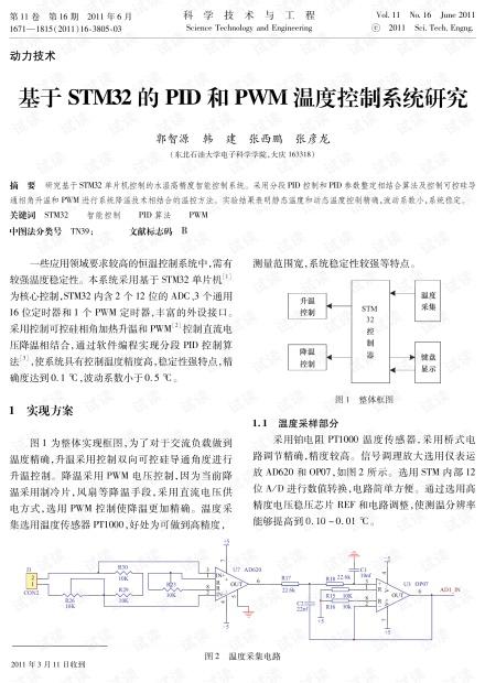 基于STM32的PID和PWM温度控制系统研究