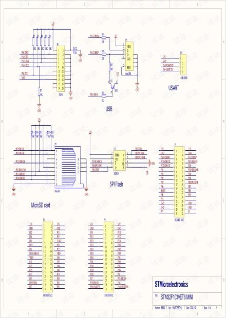 STM32F103VET6核心板电路原理图