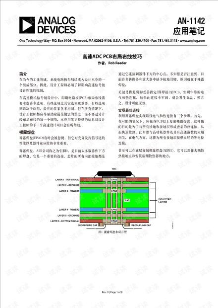高速ADC PCB 布局布线技巧
