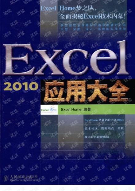 [excel2010应用大全].ExcelHome.扫描版.pdf