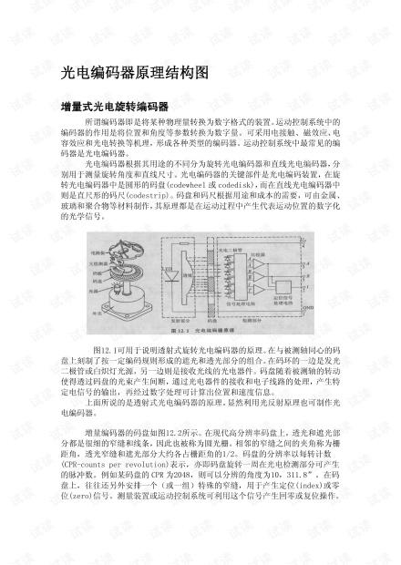 光电编码器原理结构图