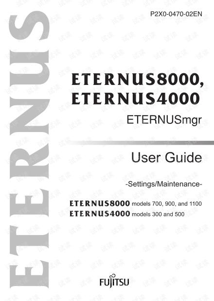 ETERNUS4000 Model 300,500 User Guide