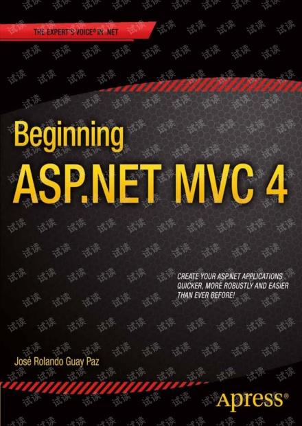 Beginning ASP.NET MVC 4英文清晰版