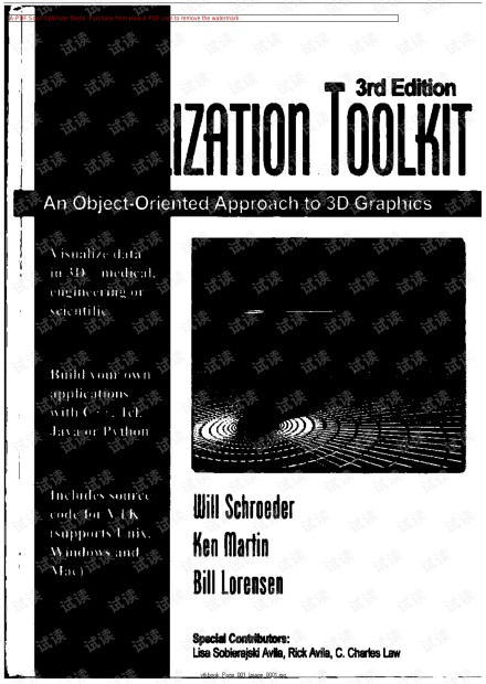 VTK: The visualization toolkit: An object-oriented approach to 3D graphics