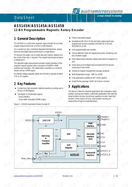 AS5145磁编码器
