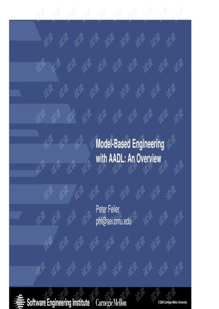 Model-Based Engineering - AADL