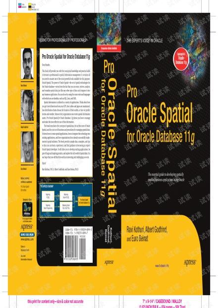 Oracle Spatial空间信息管理(英文原版)