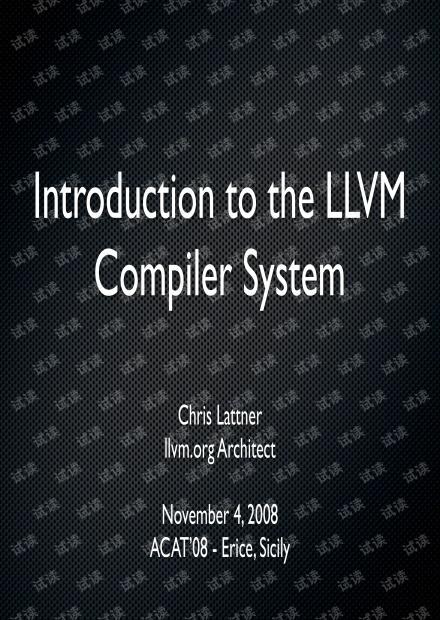 LLVM Introduction