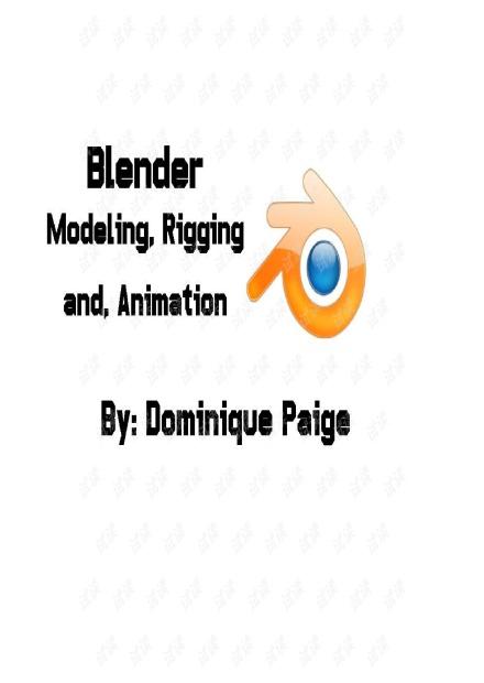 blender modeling rigging and animation