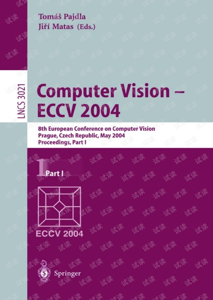 Computer Vision - ECCV 2004 Part I