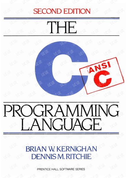 C程序设计语言 第二版 英文版 pdf(非扫描版)