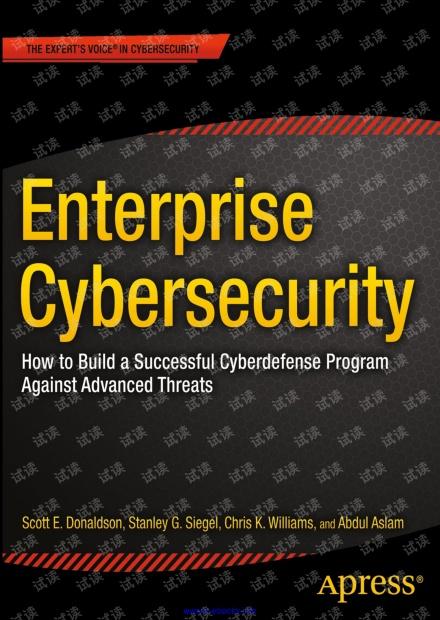 Enterprise Cybersecurity(Apress,2015)