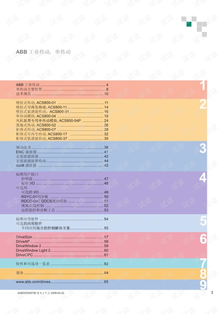 ABB_变频器选型手册_ACS800.pdf