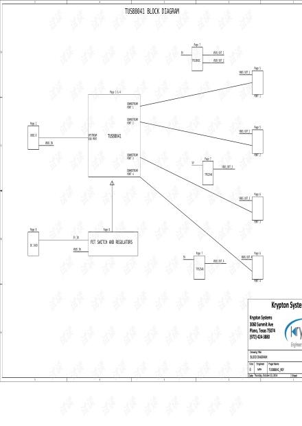 USB3.0 HUB  ti原理图