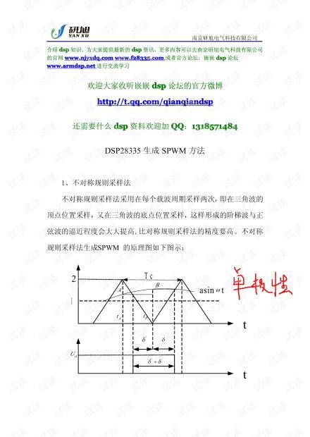 DSP28335生成SPWM方法