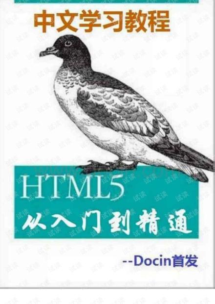 HTML从入门到精通
