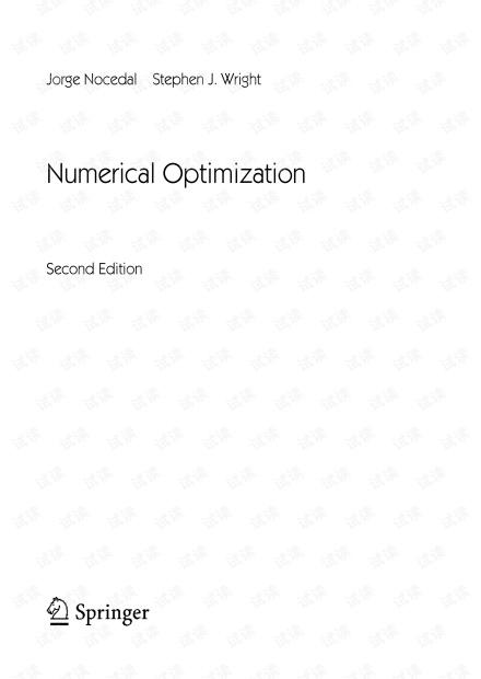 《Numerical Optimization 2nd》--Jorge Nocedal Stephen J. Wright