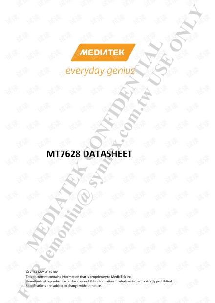 MT7628 datasheet