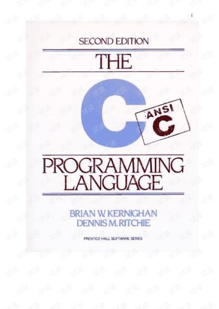 The C Programming Language[C程序设计语言] -- (英文第2版) .pdf