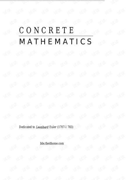 CONCRETE-MATHEMATICS(具体数学)pdf