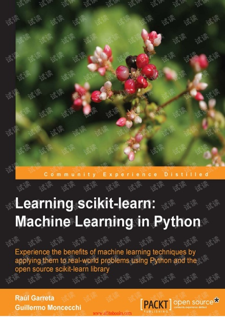 Learning scikit-learn Machine Learning in Python(PACKT,2013)