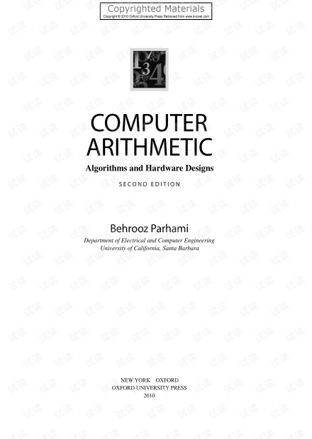Computer.Arithmetic.Algorithms.and.Hardware.Designs.2nd